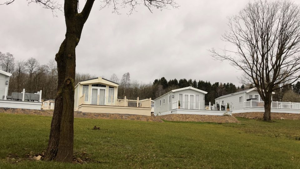 Three new static caravans overlooking the fishing pool
